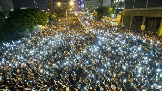 Thousands of people taking a stand in Hong Kong